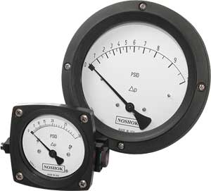 NoShok 1000 Series Piston Type Differential Pressure Gauges
