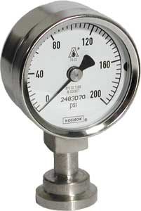 NoShok 10 Series Heavy Duty Sanitary Pressure Gauges
